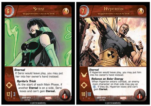 Cartes Les Eternels : Hyperion & Sersi