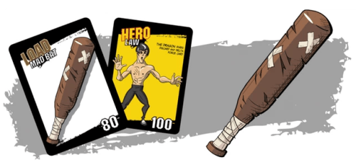 carte bruce lee - deck of justice