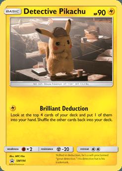Carte Détective Pikachu
