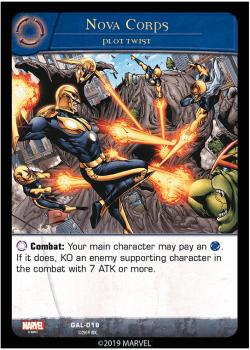 Carte Nova Corps -Gardiens Galactiques