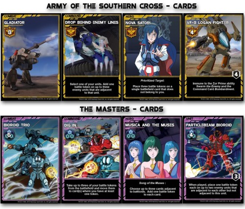 Cartes Robotech Crisis Point