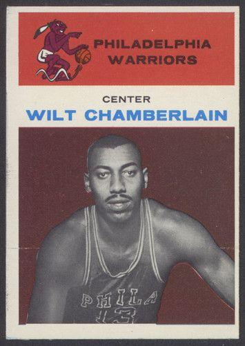 Carte 1961 Wilt Chamberlain The Fleer Company