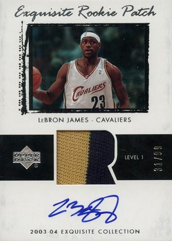 Exquisite Rookie Patch Lebron James 2003-2004