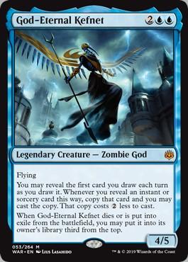 Carte Magic Kefnet l'éternel Dieu