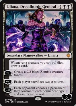 Carte MAgic Liliana, générale de la Horde de l'effroi