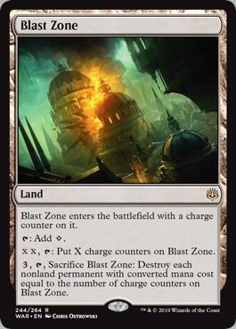 Carte Magic Zone de Déflagration