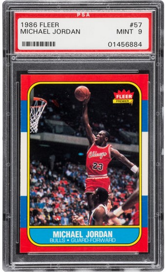 Carte Rookie Michael Jordan 1986 Fleer Company