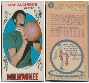 Carte Lew Alcindor Topps 1969-1970