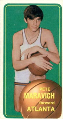 Carte basketball Pete Maravich Topps 1970-1971