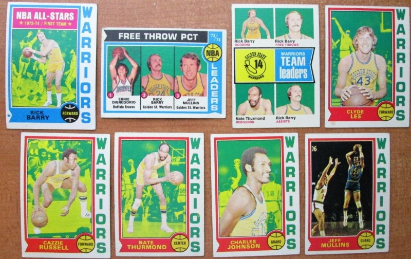 Cartes basketball Topps 1974-1975