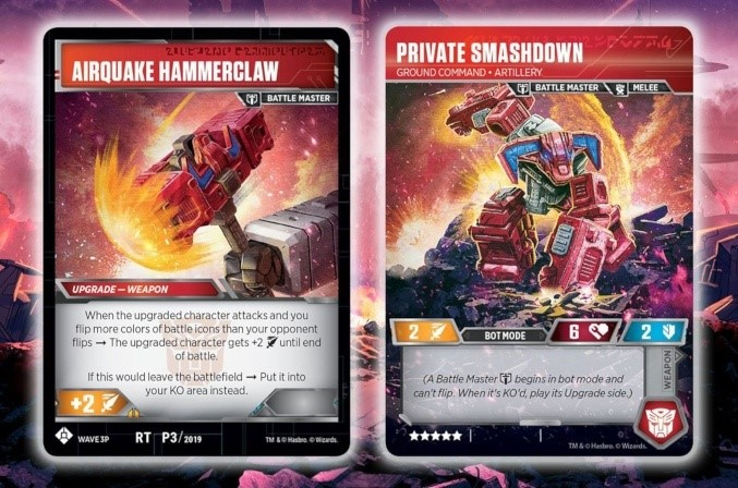 Cartes de Tournois Transformers