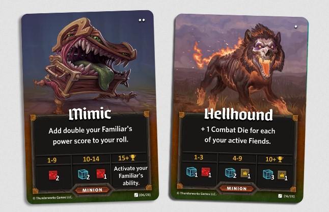 Cartes Roll Player Familiers et Démons