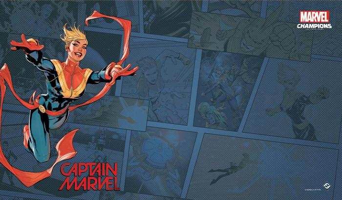 Tapis de jeu Marvel Champions - Captain Marvel