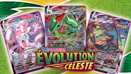 Extension epée et bouclier - évolution céleste pour le jue de cartes Pokémon