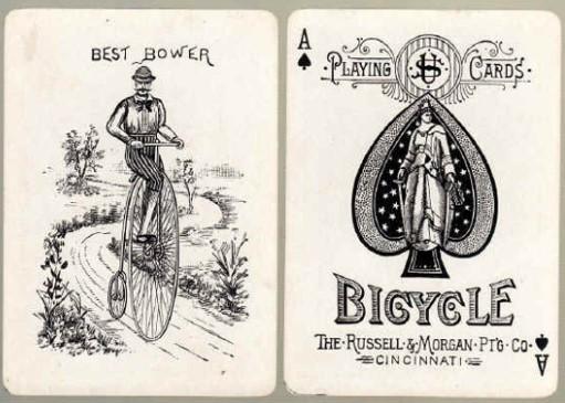 Jeu de cartes Rider Back de 1885