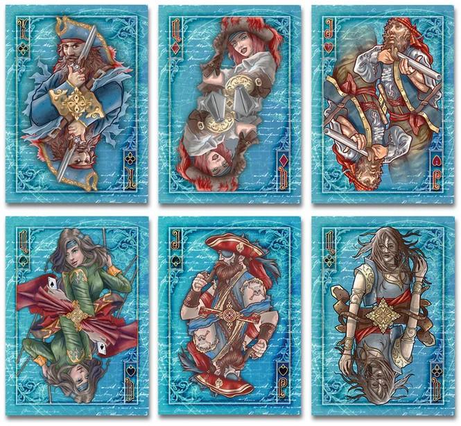Exemple de cartes du jeu Jolly Roger Kraken
