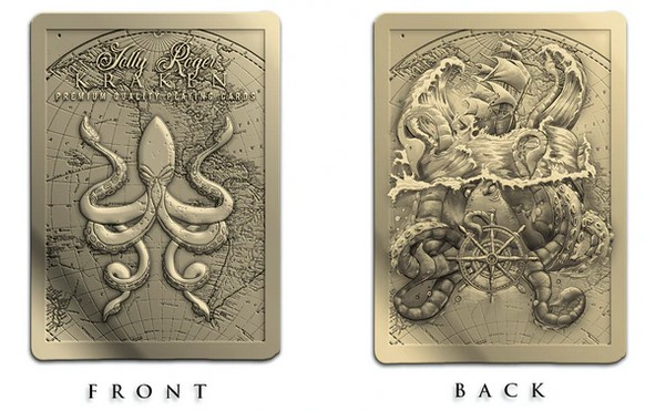 Cartes métalliques Jolly Roger Kraken